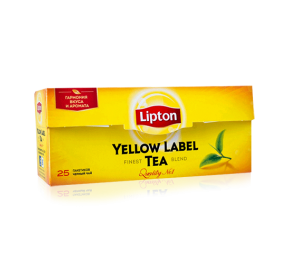ЧАЙ LIPTON, YELLOW LABEL, черный, с/я,